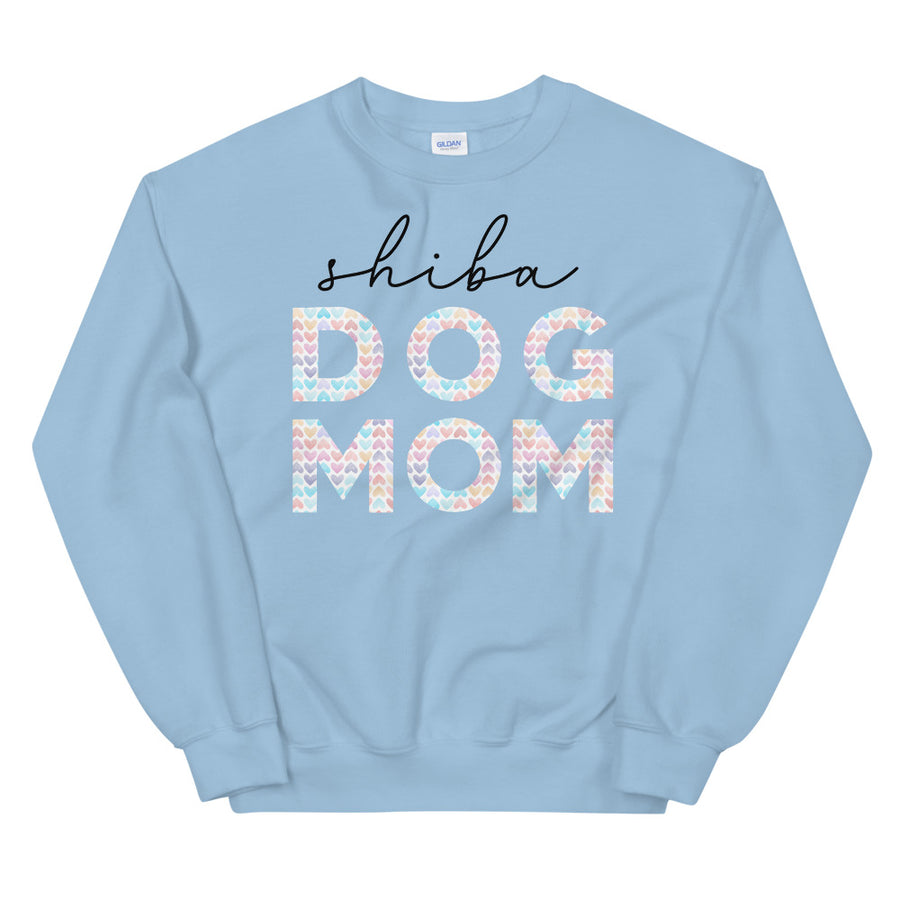 Sweatshirt - Shiba Dog Mom (Rainbow Hearts)