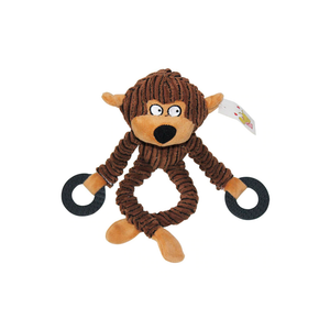 Monkey Plush Dog Toy