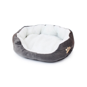 Grey Plush Pet Bed