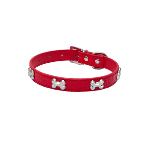 Red Bone Pet Collar