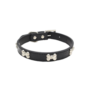 Black Bone Pet Collar