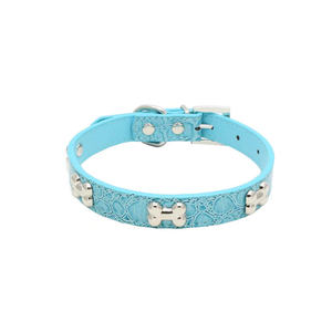 Blue Bone Pet Collar