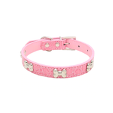 Pink Bone Pet Collar