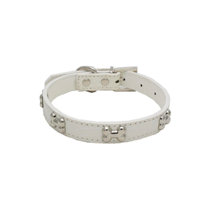 White Bone Pet Collar