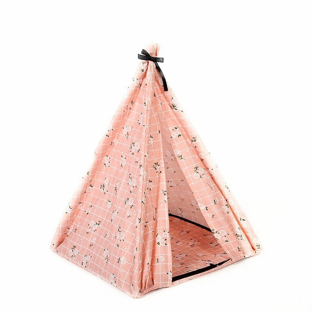 Portable Flowery Pet Tent