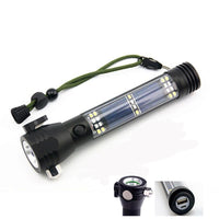 Solar Powered Multi-Function Flashlight