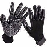 Pet Grooming Gloves for Cats, Dogs & Horses - 1 Pair