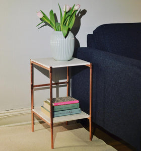 copper marble sideboard