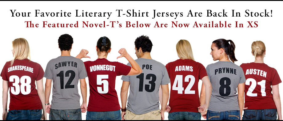 And We're Back! Literary T-Shirt Jerseys are BACK IN STOCK!