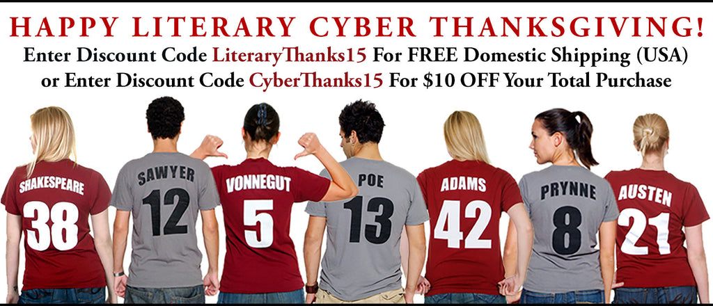 Happy Literary Cyber Thanksgiving - A Thank You From Novel-T