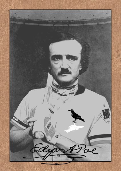 Edgar Allan Poe baseball card from Novel-T