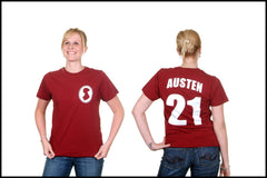 jane austen t-shirt jersey novel-t