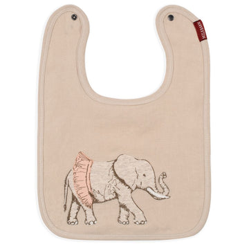 Tutu Elephant Applique Bib