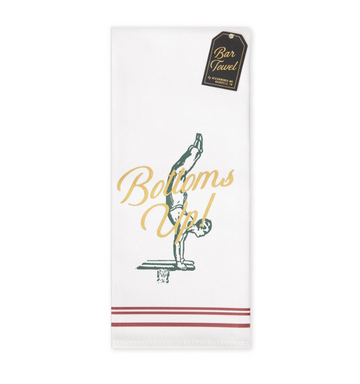 Bottoms Up! Bar Towel