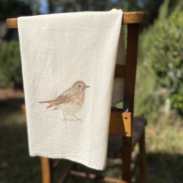 Sparrow Bird Flour Sack Towel