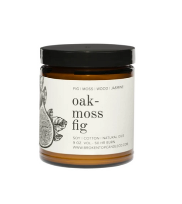 Oak Moss Fig Soy Candle FIG | MOSS | JASMINE