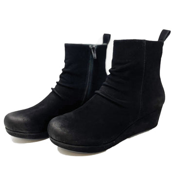 Chocolat Blu Yash Nubuck Boot in Black