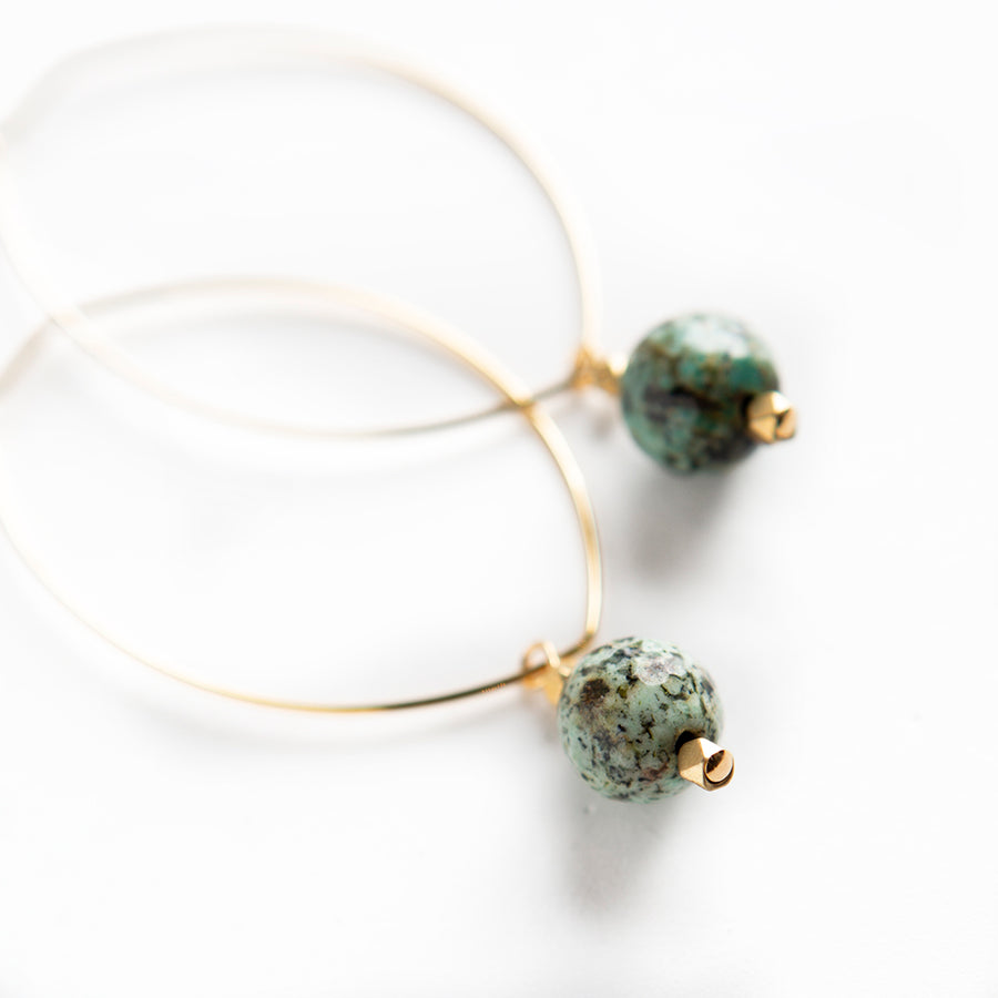 Gemstone Earrings African Turquoise