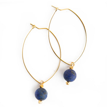 Gemstone Earrings Lapis Lazuli