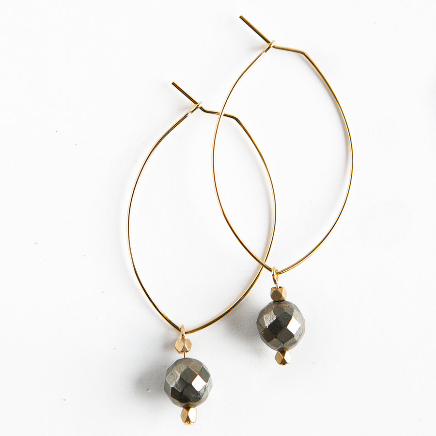 Gemstone Earrings Pyrite