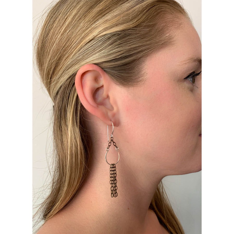 HLS Single Horseshoe with Chain Earring