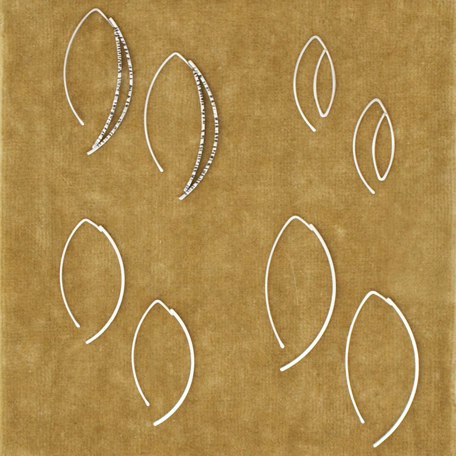 HLS Single Thick Crescent Earring - medium