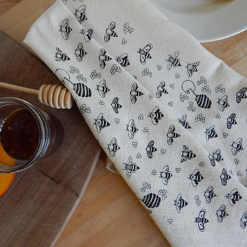 Bee Hand Printed Cotton Towel