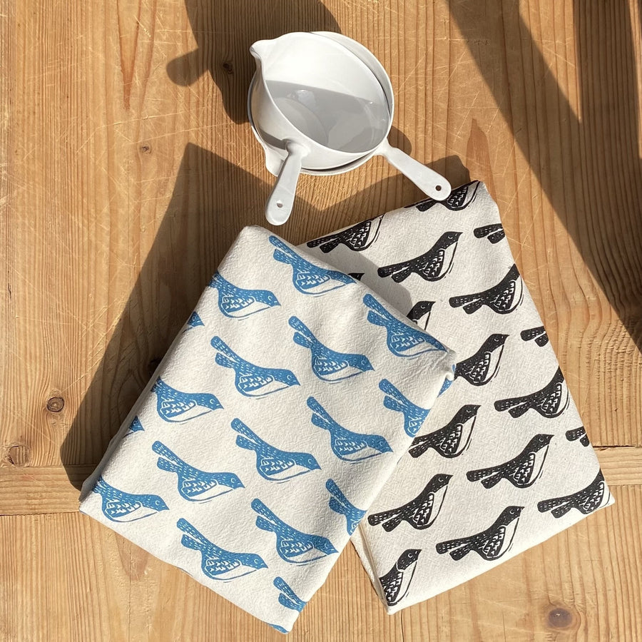 Bird Hand Printed Cotton Towel