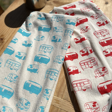 Camper Hand Printed Cotton Towel