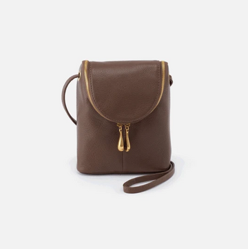 Hobo Fern Leather Crossbody in Acorn