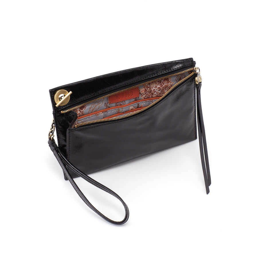 Hobo Link Wristlet in Black
