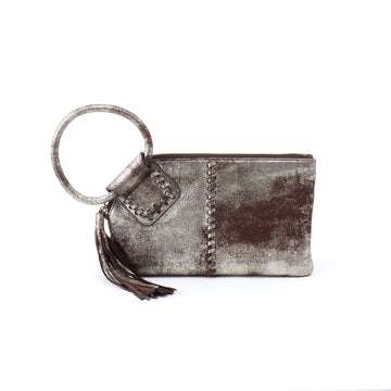 Hobo Sable Wristlet in Heavy Metal