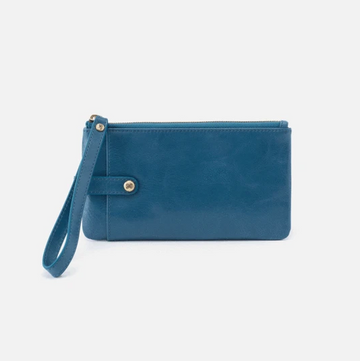 Hobo King Leather Wristlet in Riviera