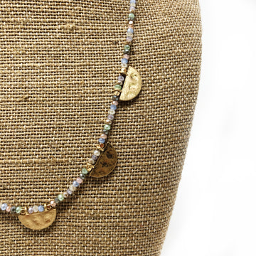 Gold Accent crystal necklace