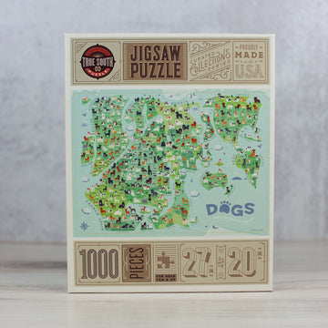World Map of Dogs 1000 Piece Jigsaw Puzzle