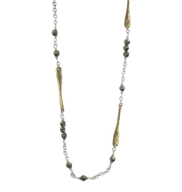 Lume Chain - Pyrite 18""
