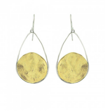 Nomad Earrings - brass & sterling silver