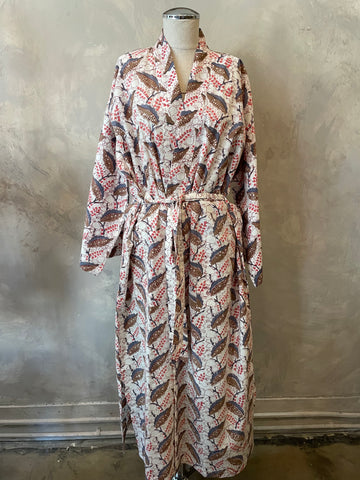 Pink Pattern Cotton Robe