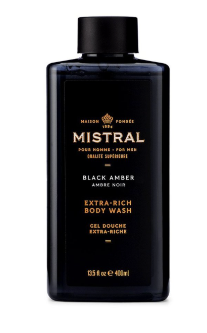 Mistral Body Wash Black Amber