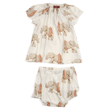 Tutu Elephant Dress & Bloomer Set