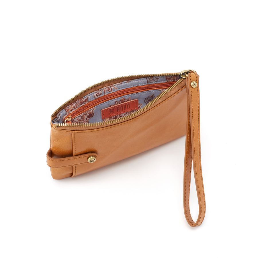 Hobo King Leather Wristlet in Honey