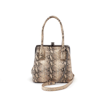 Hobo Ginger Crossbody Bag in Glam Snake