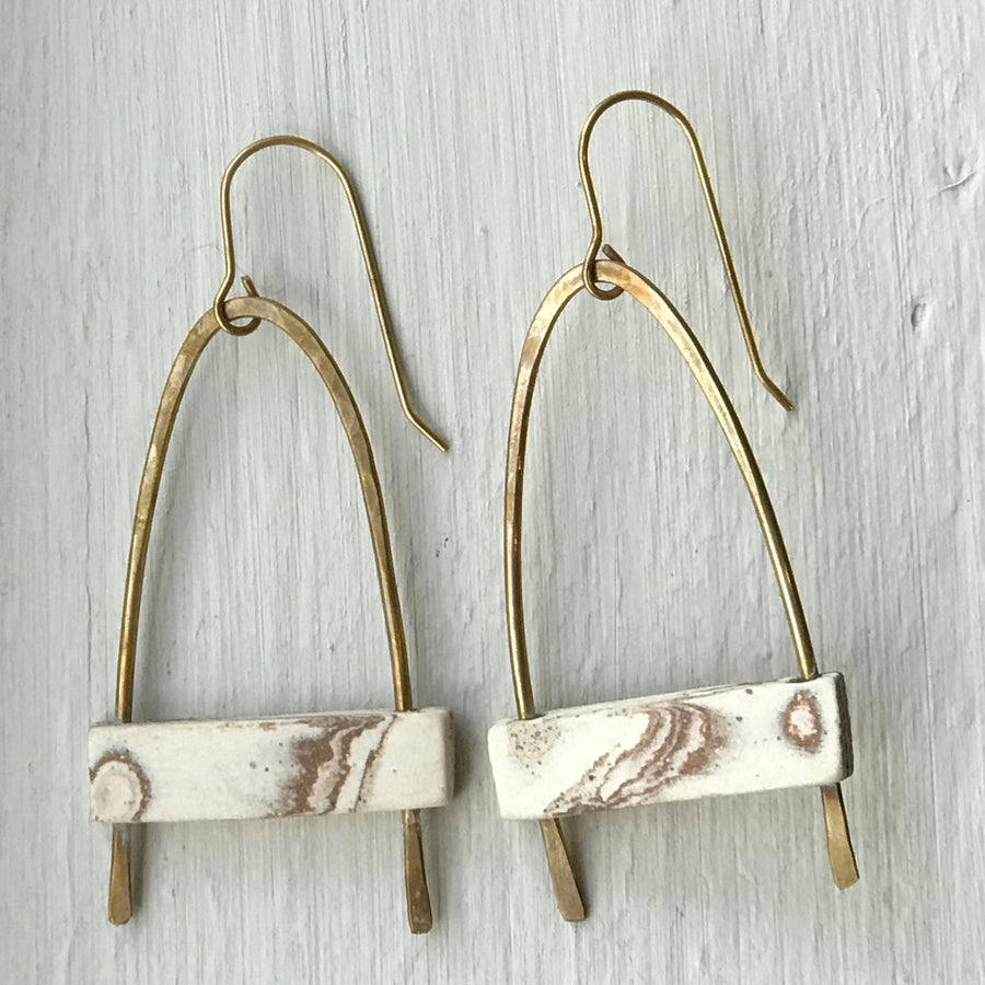 JKH Gothic Earrings - marble