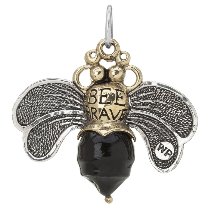 Bee Brave Pendant - black