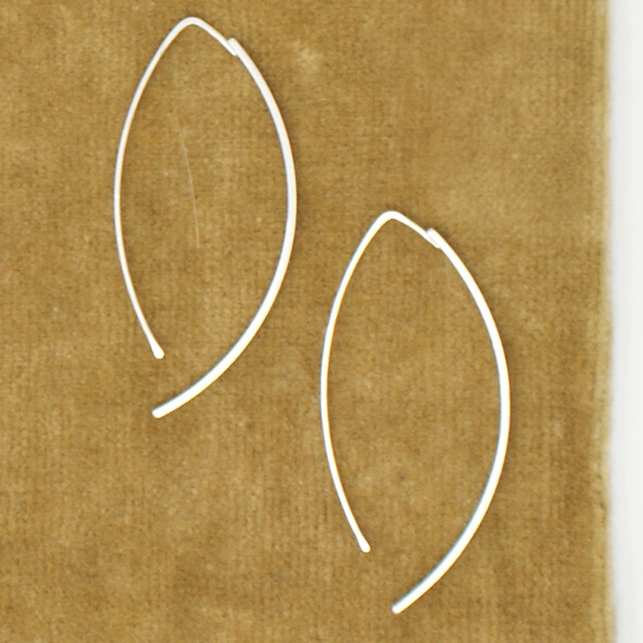 HLS Single Thick Crescent Earring - large