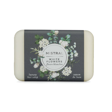 White Flowers Bar Soap