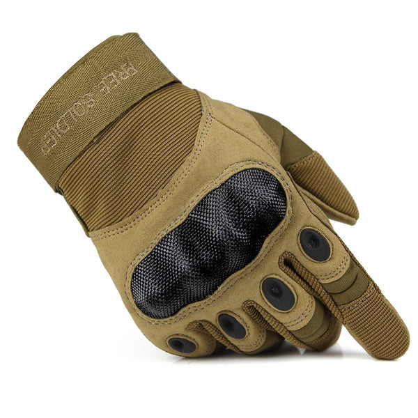 FREE SOLDIER Tactical Gloves for Men Military Hard Knuckle Outdoor Cycling Gloves Armor Gloves