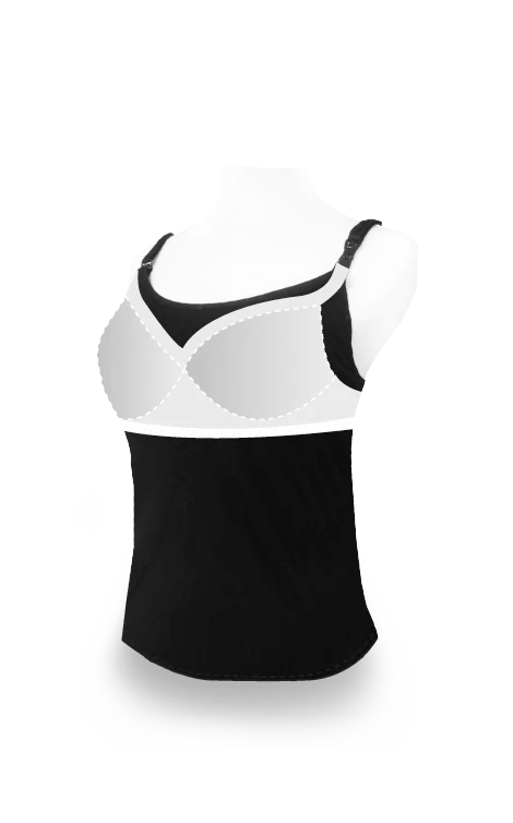 Bra Top Singlet with Built-in Bra