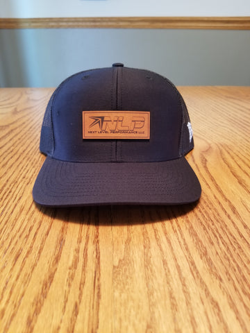 Black Trucker Curved Bill