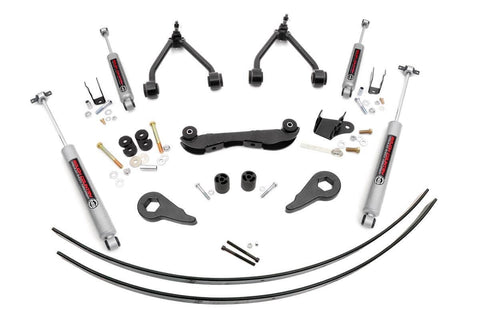 2 - 3IN GM SUSPENSION LIFT KIT For 88-98 Chevy/GMC 2wd 1500 (REAR ADD-A-LEAFS)